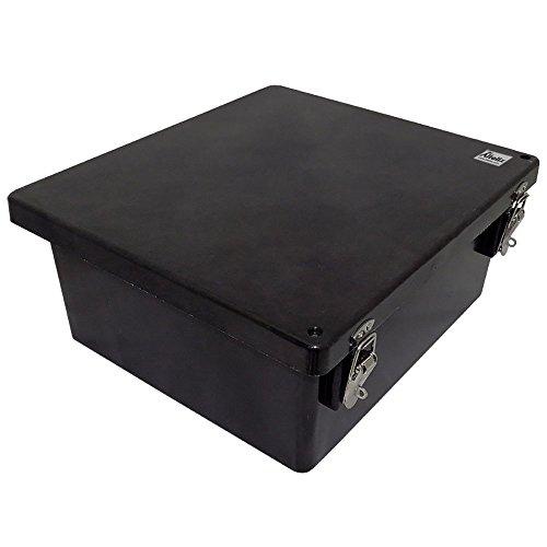 Altelix 14x12x6 FRP Fiberglass Stealth Black NEMA Box Weatherproof Enclosure with Hinged Lid & Stainless Steel Latches by Altelix (Image #2)