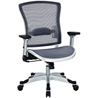 Space Seating Executive Breathable Mesh Back Chair, Platinum