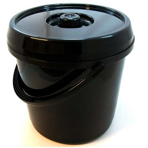 14 Litre Nappy Bucket with Lid in Gloss Black unbranded W0703BLKK