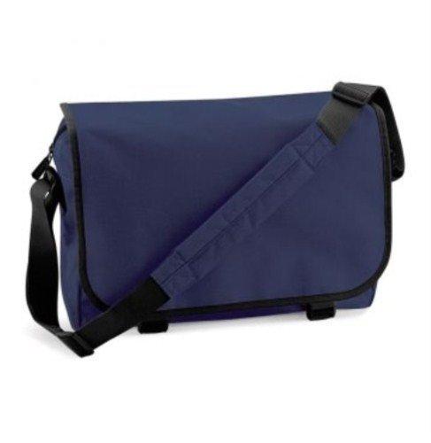BagBase Messenger Bag, color azul, talla Talla Unica Fuchsia Graphite