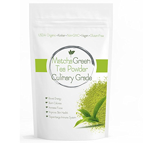 RLT Culinary Matcha (16oz) Culinary Green Tea - USDA Organic - Perfect for Making Green Tea Latte or Frappe - Over 220 Servings