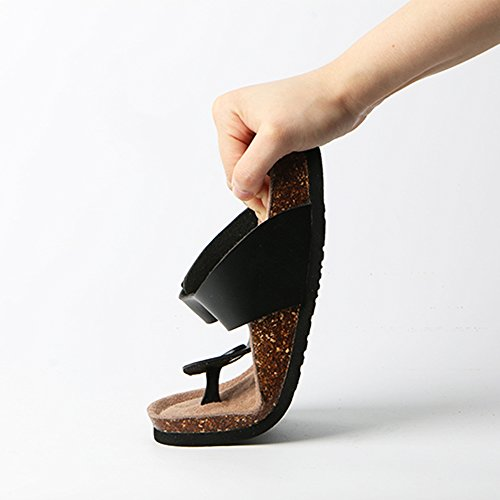 Lovers Couleur C taille Sandals Clip Pantoufles Fashion taille Pantoufles Couple Chaussons A Cork Summer ZHANGRONG grande Toes 37 OT7Hzwnq5