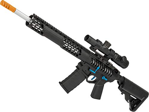 Evike EMG F1 Firearms BDR-15 3G AR15 Full Metal Airsoft AEG Rifle (Color: Black/Blue Selector/Crane Stock)