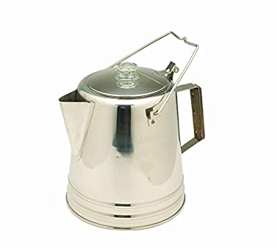 Texsport Stainless Steel Coffee Pot Percolator for Outdoor Camping