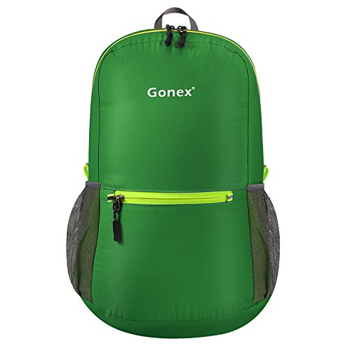Gonex Ultra Lightweight Packable Backpack Hiking Daypack Handy Foldable Camping Outdoor Travel Cycling Backpacking(Dark Green)