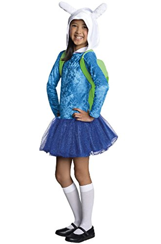 [8eighteen Adventure Time Fionna Hoodie Dress Child Costume] (Adventure Time Fionna The Human Costume)