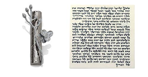 Michael Aram White Orchid Mezuzah with Kosher Parchment Scroll