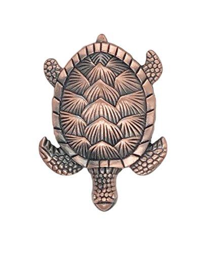 Turtle Copper Color Metal Dresser Drawer, Cabinet Drawer or Door Knob Pull - Pack of 12