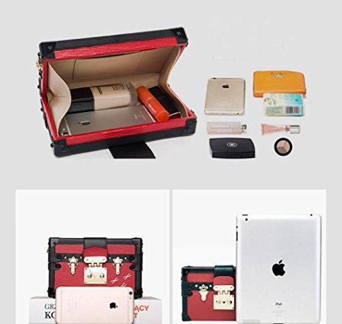 Totes Handbags Wenl Messenger Bag New Black Square Bag Bag Gold Small Retro q77a8wS