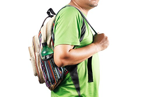 Maha Bodhi All Natural Handmade Large Multi Pocket Hemp Backpack by Maha Bodhi (Image #2)'
