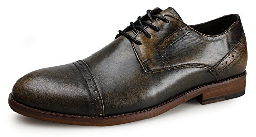 kunsto-mens-leather-lace-up-classic-brogue-cap-toe-oxford-us-size-10-bronze