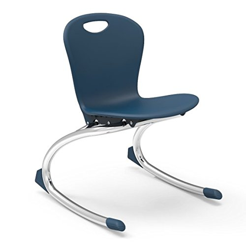 Virco Student Chair, Navy, Soft Plastic Shell, 13