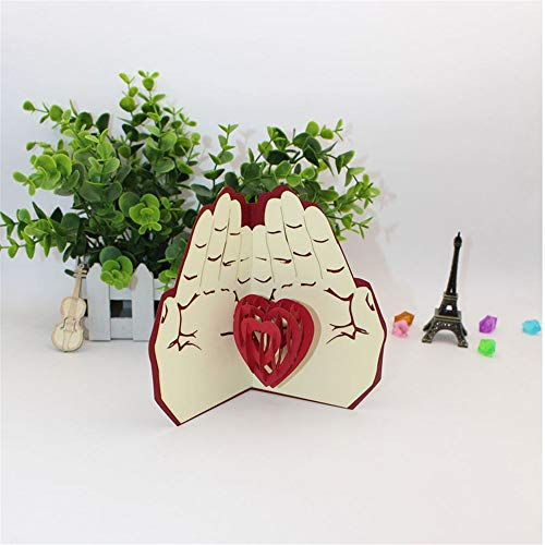 Card Love - Heart In Hands 3d Cards Wedding Post Card Invitations Valentines Day Greeting Party - Tier Motherboard Pack Countertop Records Seal Rigid Cardstock Keeper Love Hanger Board Fl