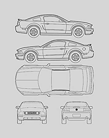 ford mustang blueprints