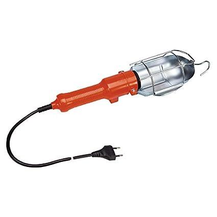 Poly Pool PP0050 Lampada Portatile da Lavoro per uso in Garage, Cantina, Officina, Cantiere con interruttore e cavo 10 metri