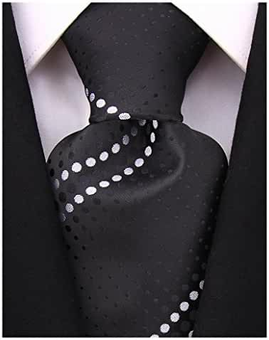 Scott Allan Mens Geometric Necktie - Black and White