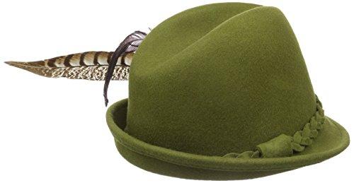 trachtenhut Alpenflüstern Fasanenfederbrosche Hanna Grün grün Femme Trachtenhüte 50 Mit Filz 55PABr