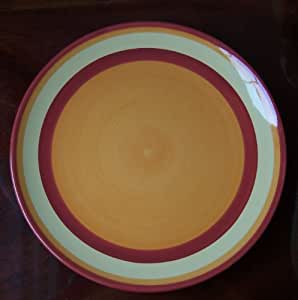 Southern Living at Home Gail Pittman Hand Painted Banded Dinner Plate Siena