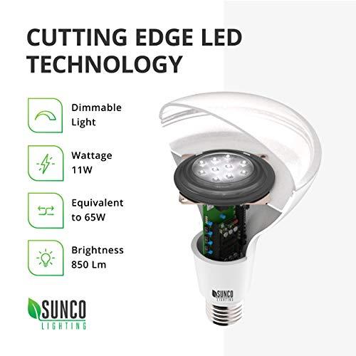 Sunco Lighting 48 Pack BR30 LED Bulb 11W=65W, 2700K Soft White, 850 LM, E26 Base, Dimmable, Indoor/Outdoor Flood Light - UL & Energy Star by Sunco Lighting (Image #5)