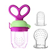Accmor Baby Fresh Food Feeder | Silicone Food Pacifier | Baby Fruit Feeder | Baby Teething Toy | Silicone Teether | Silicone Pouches for Toddlers & Kids