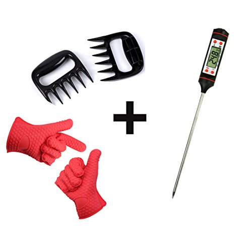 Markkeer Barbecue Tool Sets%EF%BC%88Silicone Cooking Gloves%E3%80%81Barbecue Thermometers%E3%80%81Meat product image