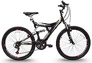 Bicicleta Aro 26 TB-300 XS Preta 21v Suspensão Full MTB Aero