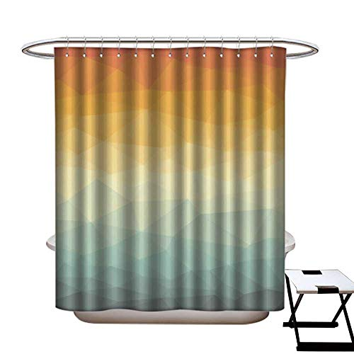 warmfamily Shower Curtain Art Print Polyester Vertical Polygonal Abstract Wallpaper Shower CurtainW54 x L78