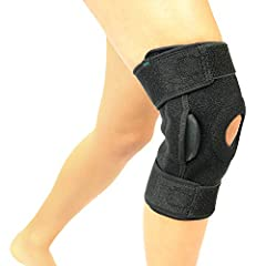 Hinged Knee Brace by Vive              The hinged knee brace by Vive is ideal for active individuals with weak, injured or arthritic knees. Can be used on either leg. The extra strength fasteners mean you can adjust sizing to ...