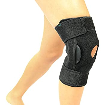 a5614cee43 Vive Hinged Knee Brace - Adjustable Open Patella Support for Swollen ACL,  Tendon, Ligament and Meniscus Injuries - Athletic Compression for Running  and ...