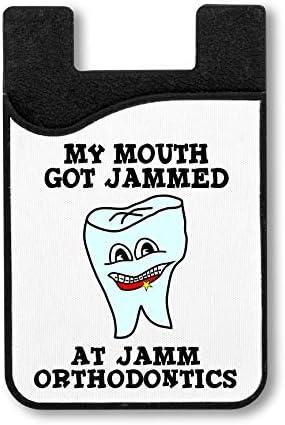 Mijn mond kreeg Jammed Credit Card Houder voor Smartphone