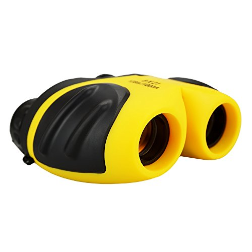 Gifts for 3-12 Years Old Boys, DIMY Compact 8x21 Shock Proof Binoculars for Bird Watching Kids Telescope for Teens Toys for 3-12 Years 0ld Boys Yellow DL03 -