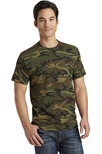 Port & Company Core Cotton Camo Tee. PC54C Military Camo L