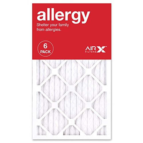 AIRx ALLERGY 14x24x1 MERV 11 Pleated Air Filter - Made in the USA - Box of 6