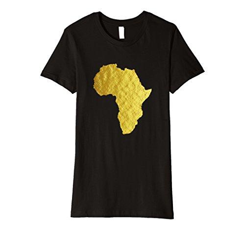 Womens Africa Shirt African Map Hip Hop Graphic Print Tee Top Medium Black by Africa Shirt Shop