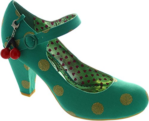 Irregular Choice  The Right Stripes, Escarpins pour femme vert Green