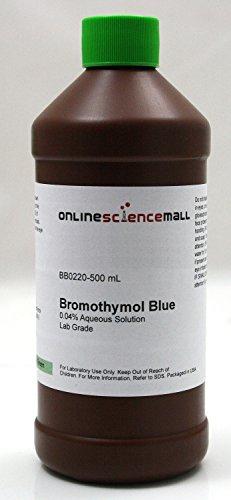 500mL of 0.04% Bromothymol Blue, pH Indicator - Lab Grade ()