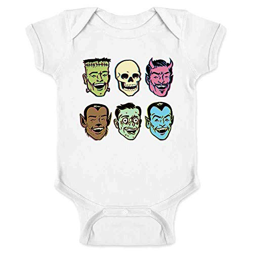 Pop Threads Retro Monster Party Halloween Costume Zombie White 24M Infant Bodysuit