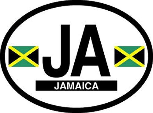 Jamaica Oval Vinyl Sticker - Decal Jamaica Oval