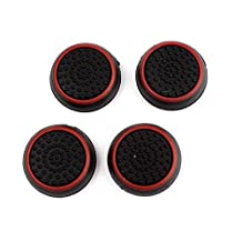 CFHKStore 2 Pairs Thumb Stick Joystick Grip Controller For PS4 Black+Red