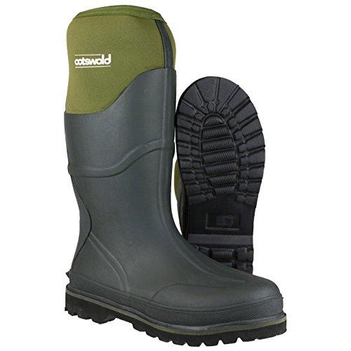 Cotswold Herren Ranger Gummi-Stiefel mit Neopren - Grün - EU / UK Green