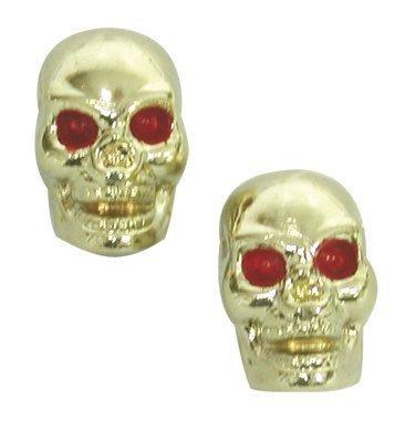 Trik Topz Gold Skull Custom Valve Caps by Trik Topz [並行輸入品]