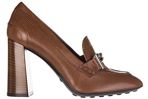Tods Zapatos de Salón Escotes Mujer EN Piel Nuevo Marrón