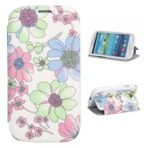 XY-169 PU Leather and Plastic Simple Series Protective Case for Samsung i9300