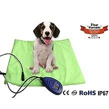 Namsan Warmer Pet Heat Mat - Safety Indoor Cat Dog Pet Bed Waterproof Electric Heating Blanket with UL Cert Adaptor 11.9 15.8 inches