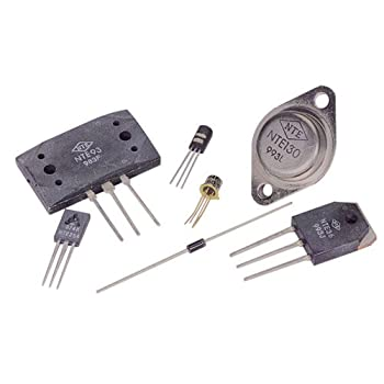NTE Electronics NTE160 PNP Germanium Transistor for RF–IF Amplifier, FM Mixer Oscillator, TO-72 Case, 0.01 Amp Collector Current, 20V Collector–Emitter Voltage