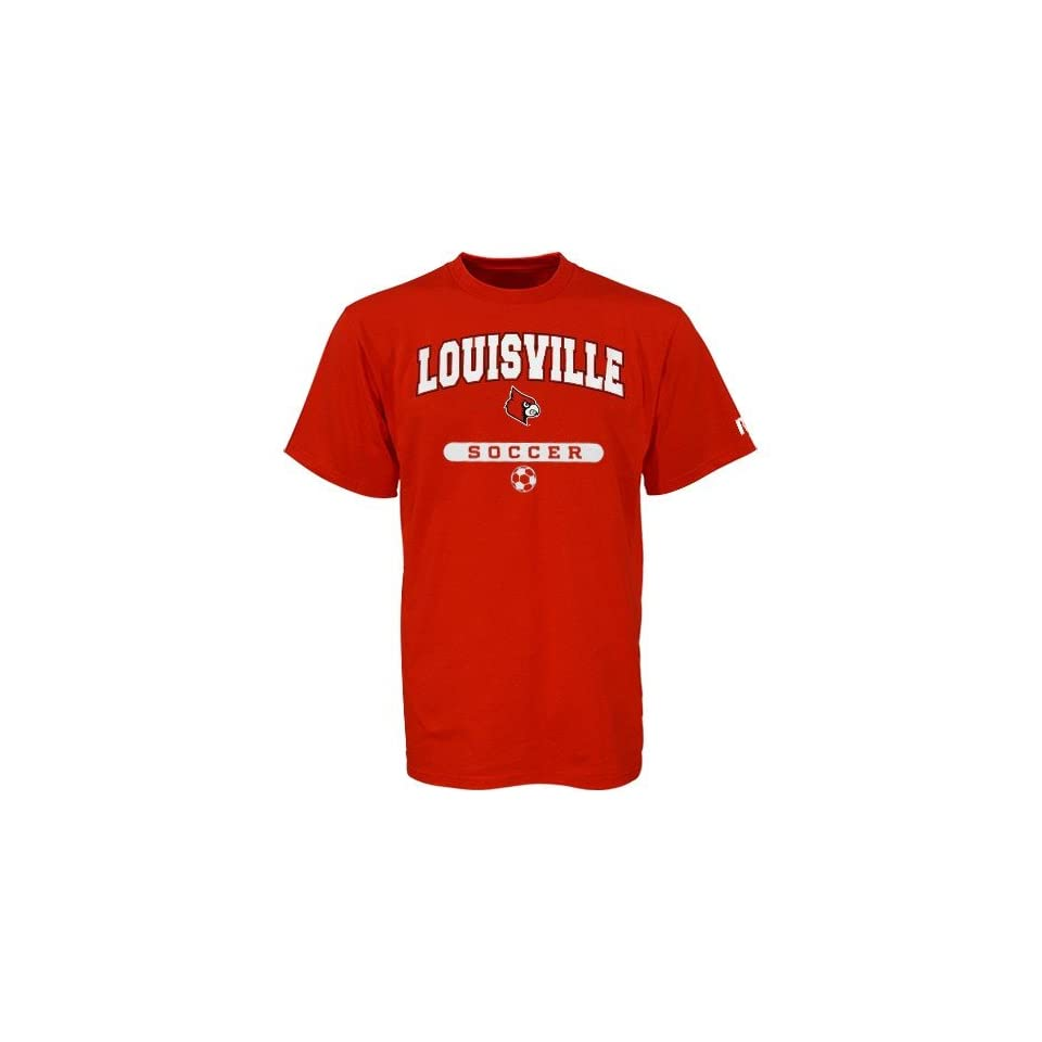 Russell Louisville Cardinals Red Soccer T shirt Sports