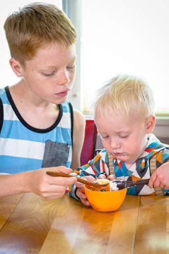 Wood Toddler Spoon, 7 in Handmade Wooden Baby Spoon, Hardwood and Heirloom Quality, A Keepsake Wood Feeding Spoon - Jatoba by Earlywood (Image #6)