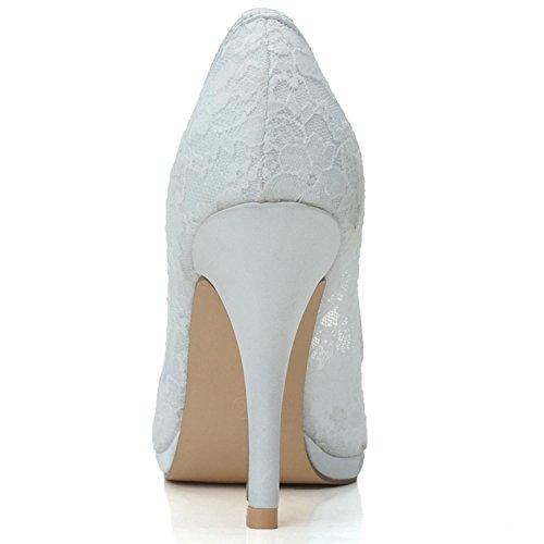 L@YC Damen Hochzeitsschuhe Heels Heels Hochzeit / Party & abend / Pink / Schwarz / Weiß Black
