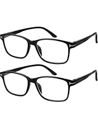 6a72f48e4b91 Computer Glasses 2 Pairs Anti Glare Anti Reflection Classic Reading Glasses  Quality Comfort Glasses for Men