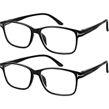 4b1bed9ca79 Computer Glasses 2 Pairs Anti Glare Anti Reflection Classic Reading Glasses  Quality Comfort Glasses for Men